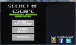 Secret of Escape Title Screen