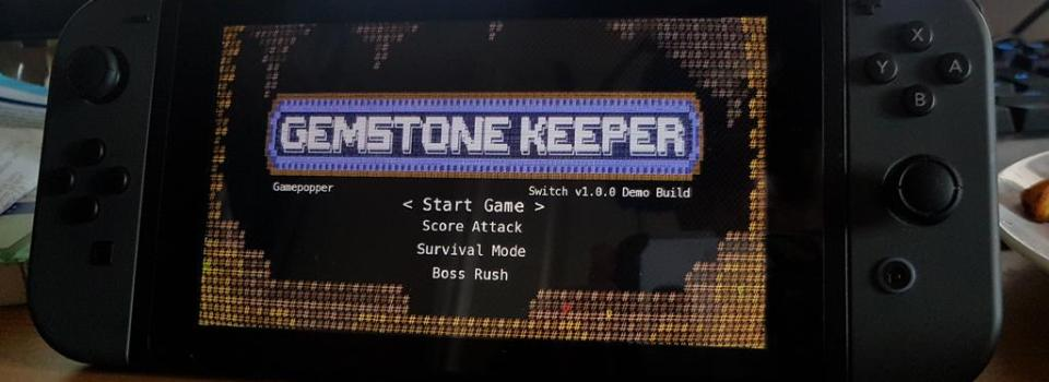 Gemstone Keeper Running on a Nintendo Switch
